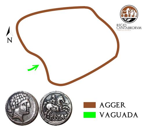 Estructura del recinto campamental y denario de Bolskan similar al encontrado